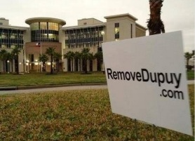 Remove Dupuy sign